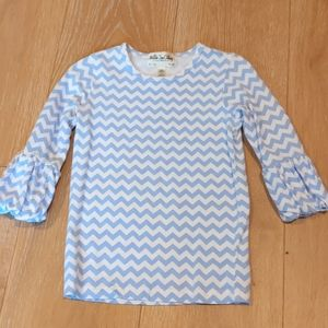 Matilda Jane Paint by Numbers Reflection Puffer Blue Tee Shirt Size 4 4T TOP NEW